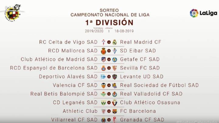 La liga Fixtures