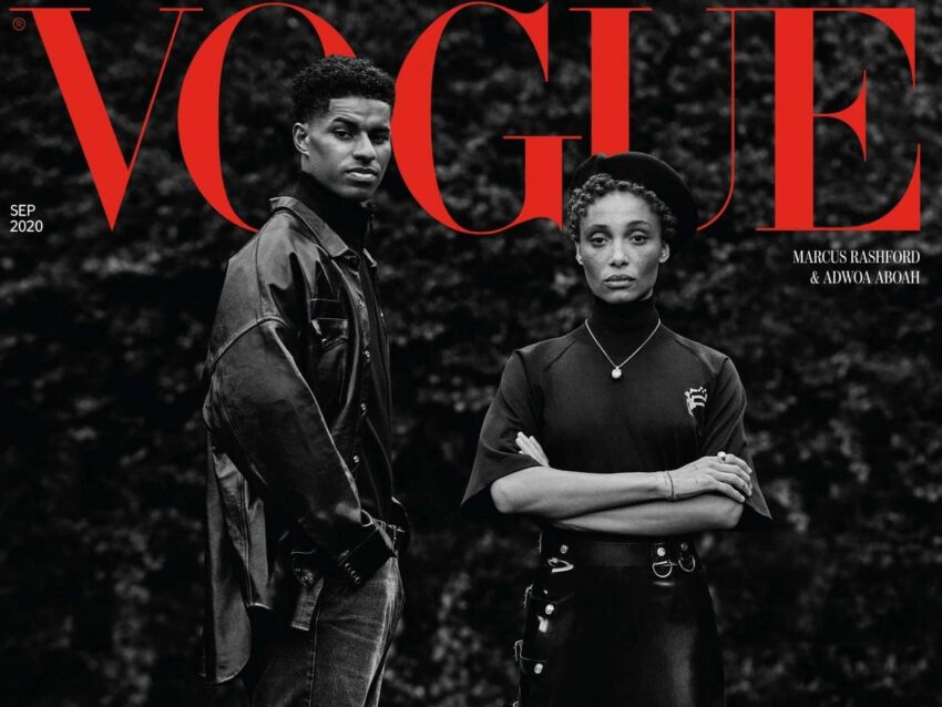 Marcus Rashford on the cover of the September 2020 issue of the British Vogue. Image: British Vogue/Missan Harriman.