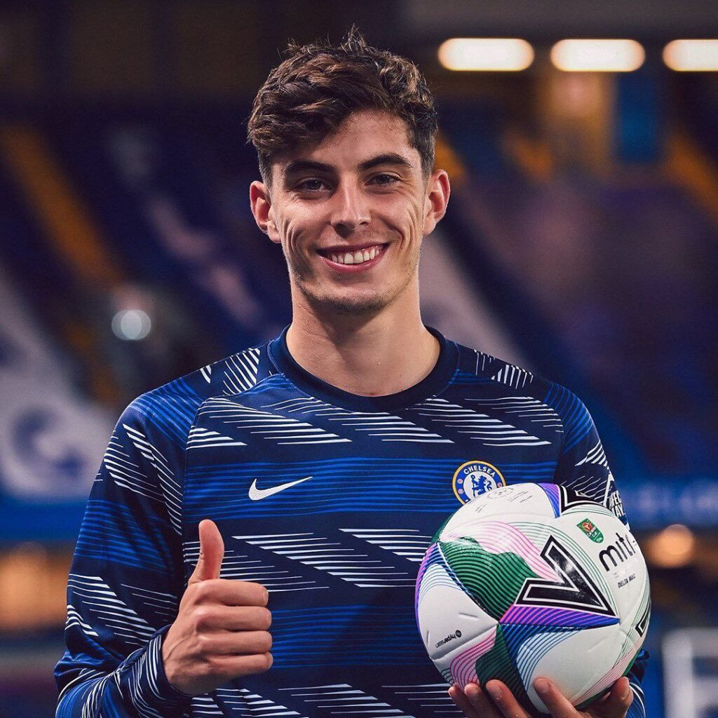 The man of the match, Kai Havertz, scored a hat-trick past Barnsley.