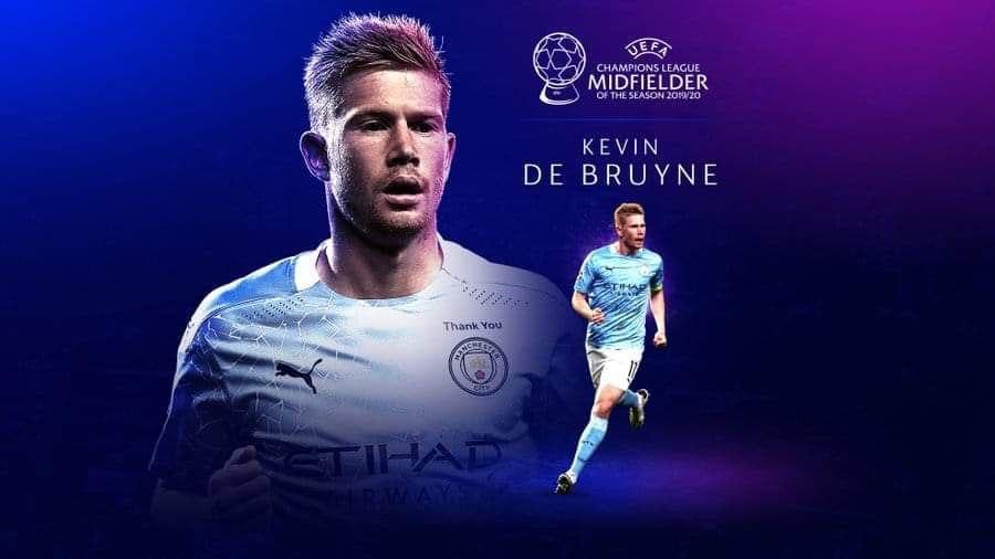 Kevin De Bruyne wins UEFA Men's best midfielder award