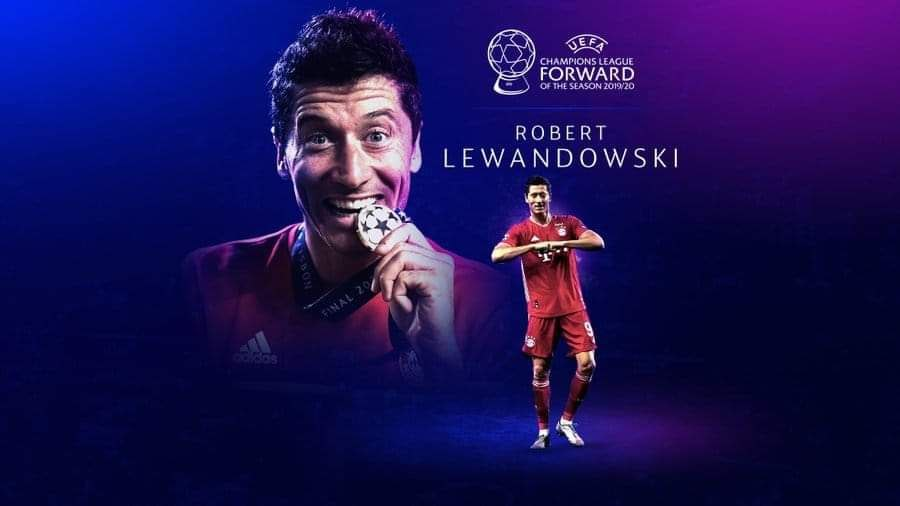 Robert Lewandowski bagged two UEFA awards, a consolation following the cancellation of the Balon d'Or.