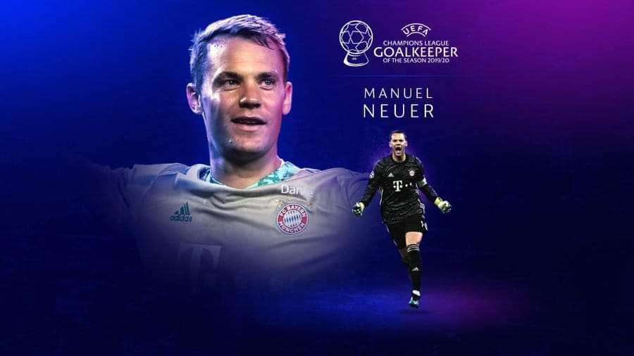 Manuel Neuer wins the UEFA Men's Best Goalkeeper Award