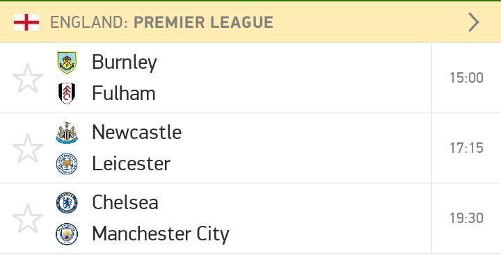 Sunday Premier League action.