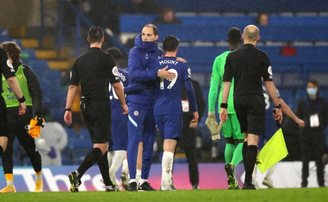 Mason Mount with current Chelsea manager Thomas Tuchel