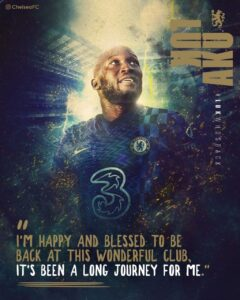 Lukaku's comments following his return to the Bridge. Lukaku will be available for selection this weekend as Chelsea go head to head with Arsenal at the Emirates